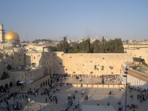 Photo of Western Wall from Wikimedia Creative Commons posted at Finding God Daily