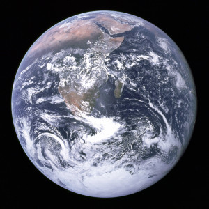 earth image from NASA used at Finding God Daily